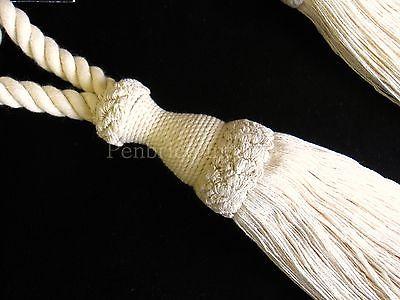 2 Natural Cotton Curtain Tiebacks Jones Interiors Cream